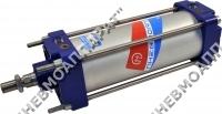 Монтаж пневмоцилиндра с диаметром поршня 080...200 мм на удлиненных стяжках